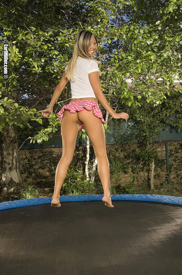 Have thought Naked teen girl on a trampoline